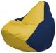 Бескаркасное кресло Flagman Груша Мини Г0.1-248 (желтый/темно-синий) -