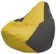 Бескаркасное кресло Flagman Груша Мини Г0.1-249 (желтый/темно-серый) -