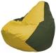 Бескаркасное кресло Flagman Груша Мини Г0.1-250 (желтый/темно-оливковый) -