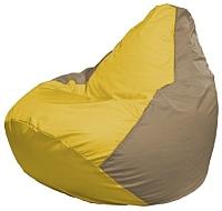 Бескаркасное кресло Flagman Груша Мини Г0.1-252 (желтый/темно-бежевый) -
