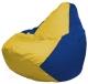 Бескаркасное кресло Flagman Груша Мини Г0.1-254 (желтый/синий) -
