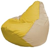 Бескаркасное кресло Flagman Груша Мини Г0.1-255 (желтый/светло-бежевый) -
