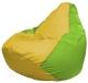 Бескаркасное кресло Flagman Груша Мини Г0.1-256 (желтый/салатовый) -