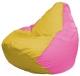 Бескаркасное кресло Flagman Груша Мини Г0.1-257 (желтый/розовый) -