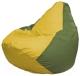 Бескаркасное кресло Flagman Груша Мини Г0.1-259 (желтый/оливковый) -