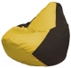 Бескаркасное кресло Flagman Груша Мини Г0.1-261 (желтый/коричневый) -