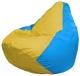 Бескаркасное кресло Flagman Груша Мини Г0.1-263 (желтый/голубой) -