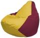 Бескаркасное кресло Flagman Груша Мини Г0.1-265 (желтый/бордовый) -