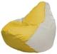Бескаркасное кресло Flagman Груша Мини Г0.1-266 (желтый/белый) -