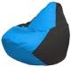 Бескаркасное кресло Flagman Груша Мини Г0.1-267 (голубой/черный) -