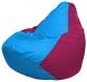Бескаркасное кресло Flagman Груша Мини Г0.1-268 (голубой/фуксия) -