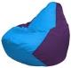 Бескаркасное кресло Flagman Груша Мини Г0.1-269 (голубой/фиолетовый) -
