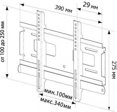 Кронштейн для телевизора Trone LPS 20-30 (серебристый) - схема