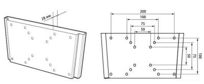 Кронштейн для телевизора Trone LPS 21-10 Silver - схема