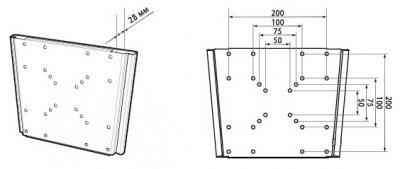 Кронштейн для телевизора Trone LPS 21-20 Silver - схема