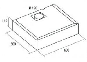 Вытяжка плоская Cata S-Box 600 White - схема