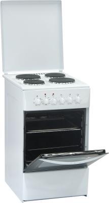 Кухонная плита Nord ЭП-4.00 White - с открытой духовкой