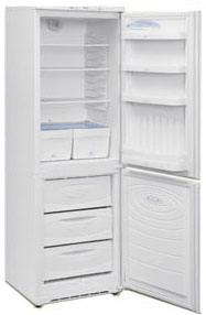Холодильник с морозильником Nord ДХ 239-7-010 - вид спереди, внутренний вид