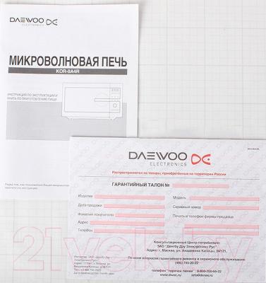 Микроволновая печь Daewoo KOR-8A47 - документы