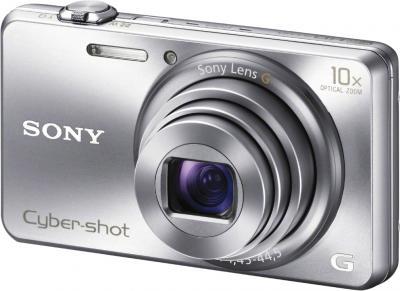 Компактный фотоаппарат Sony Cyber-shot DSC-WX200 Silver - общий вид