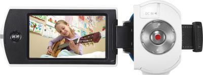 Видеокамера Samsung HMX-QF30 White - вид спереди