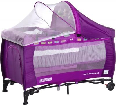 Кровать-манеж Caretero Grande (Purple) - общий вид