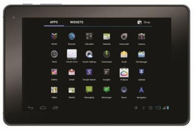 Планшет Huawei MediaPad S7-301u (Jet-Black) - фронтальный вид