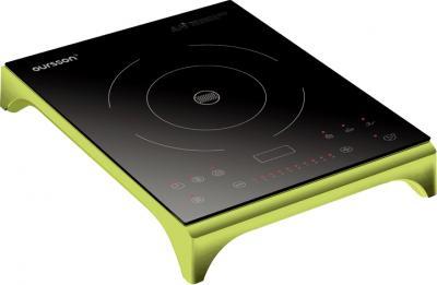 Электрическая настольная плита Oursson IP1220T (зеленое яблоко) - общий вид