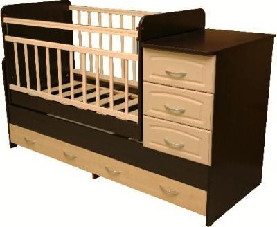 Детская кровать-трансформер Антел Ульяна-У (Венге-Клен) - общий вид