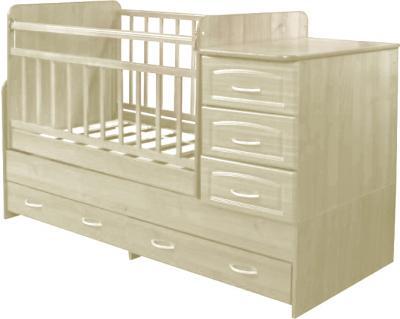 Детская кровать-трансформер Антел Ульяна-У (Слоновая Кость) - цвет может отличаться от представленного на фотографии