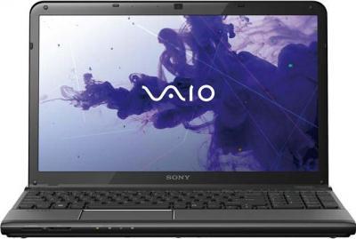 Ноутбук Sony VAIO SV-E1513T1R/B - фронтальный вид