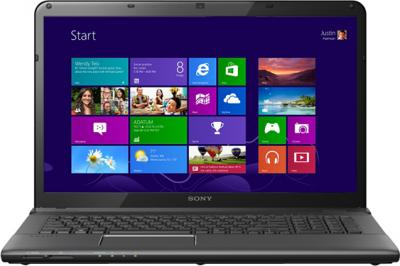 Ноутбук Sony VAIO SV-E1713S1R/B - фронтальный вид