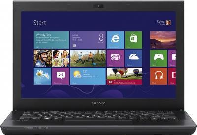Ноутбук Sony VAIO SV-S1313X9R/B - фронтальный вид
