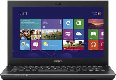 Ноутбук Sony VAIO SV-S1313V9R/B - фронтальный вид