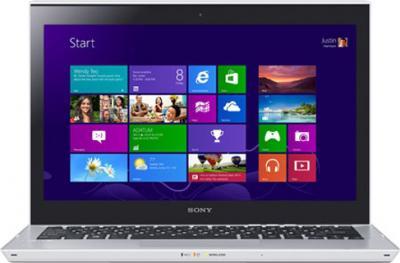 Ноутбук Sony VAIO SV-T1313M1R/S - фронтальный вид
