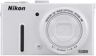 Компактный фотоаппарат Nikon Coolpix P330 White - вид спереди