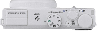 Компактный фотоаппарат Nikon Coolpix P330 White - вид сверху