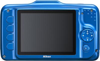 Компактный фотоаппарат Nikon Coolpix S31 Blue - вид сзади