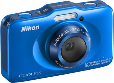 Компактный фотоаппарат Nikon Coolpix S31 Blue - общий вид