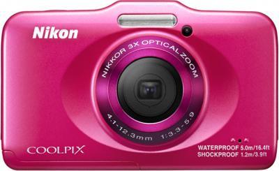 Компактный фотоаппарат Nikon Coolpix S31 Pink - вид спереди