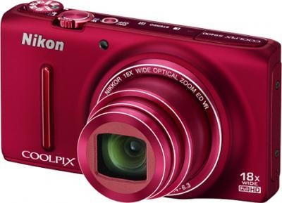Компактный фотоаппарат Nikon Coolpix S9400 Red - общий вид