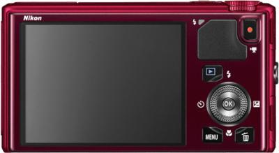 Компактный фотоаппарат Nikon Coolpix S9400 Red - вид сзади