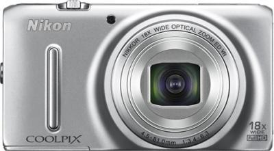 Компактный фотоаппарат Nikon Coolpix S9400 Silver - вид спереди