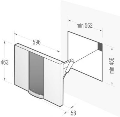 Декоративная панель для СВЧ Gorenje DFP6P2X - схема установки