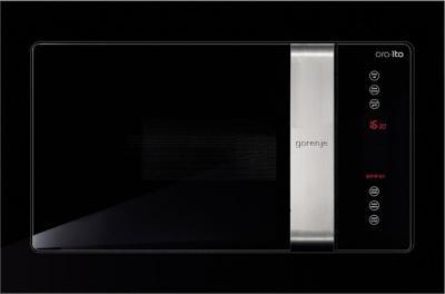 Микроволновая печь Gorenje BM6250ORAX - фронтальный вид с рамкой (входит в комплект)