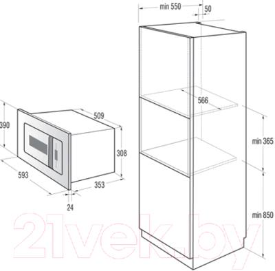 Микроволновая печь Gorenje BM6250ORAW - схема