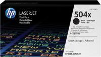 Комплект картриджей HP 504X (CE250XD) -