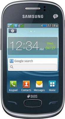 Мобильный телефон Samsung S3802 Rex 70 Duos Metalic Blue (GT-S3802 MBWSER) - общий вид