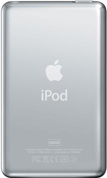 MP3-плеер Apple iPod classic 160Gb MC297QB/A (черный) - вид сзади