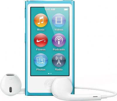 MP3-плеер Apple iPod nano 16Gb MD477QB/A (синий) - вид спереди